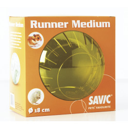 Шар прогулочный Savic Runner Medium,  для хомяков, пластик, 18 см фото