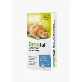 Таблетки Bayer Drontal для кошек фото