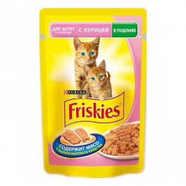 Пауч для котят Friskies Kitten с курицей, 100 г  фото
