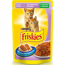 Пауч для котов Friskies Junior, с ягненком, 100 г фото